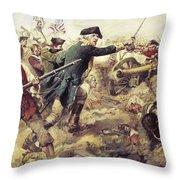Battle Of Bennington Throw Pillow by Frederick Coffay Yohn