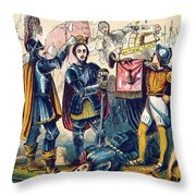 Battle Of Bosworth, Henry Vii Crowning Throw Pillow