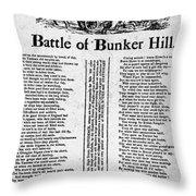 Battle Of Bunker Hill Throw Pillow