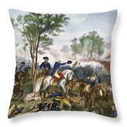 Battle Of Eutaw Springs Throw Pillow
