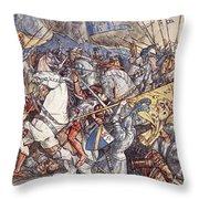 Battle Of Fornovo, Illustration Throw Pillow
