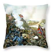 Battle Of Franklin Throw Pillow