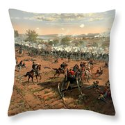 Battle Of Gettysburg Throw Pillow