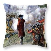 Battle Of Lexington Throw Pillow