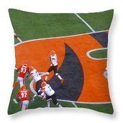 Battle Of Ohio Watercolor Throw Pillow by Dan Sproul