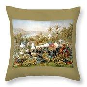 Battle Of Qusimas Throw Pillow