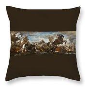 Battle Of Saint-quentin Throw Pillow