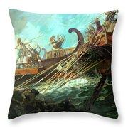 Battle Of Salamis, 480 Bce Throw Pillow