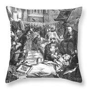Battle Of Sedan, 1870 Throw Pillow