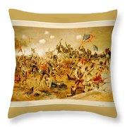 Battle Of Spotsylvania Thure De Thulstrup Throw Pillow