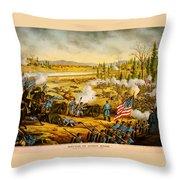 Battle Of Stones River Throw Pillow