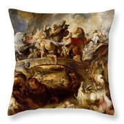 Battle Of The Amazons Throw Pillow