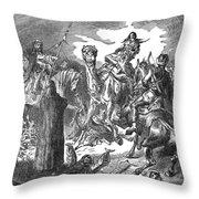 Battle Of The Camel, 656 Throw Pillow
