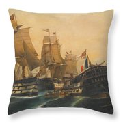 Battle Of Trafalgar Throw Pillow