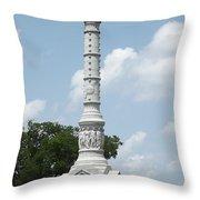 Battle Of Yorktown Monument Throw Pillow