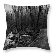 Battle Road Boardwalk Throw Pillow