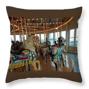 Battle Ship Cove Carousel Throw Pillow
