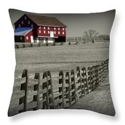 Battlefield Barn Throw Pillow