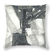 Battlefield Cross Throw Pillow