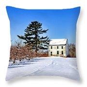 Battlefield Farm House Throw Pillow