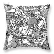 Battlefield Surgeon, 1540 Throw Pillow