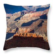 Battleship Rock At The Grand Canyon Throw Pillow