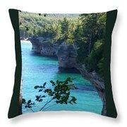Battleship Row Pictured Rocks National Lakeshore Throw Pillow