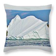 Batwing Iceberg In Saint Anthony Bay-newfoundland-canada  Throw Pillow