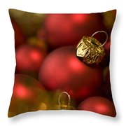 Baubles Throw Pillow by Anne Gilbert