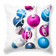 Baubles From Above Throw Pillow by Anne Gilbert