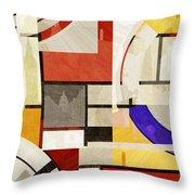 Bauhaus Rectangle Three Throw Pillow