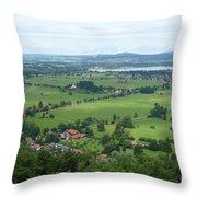 Bavarian Green Valley Throw Pillow