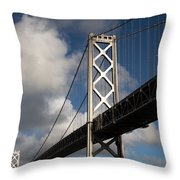 Bay Bridge After The Storm Throw Pillow