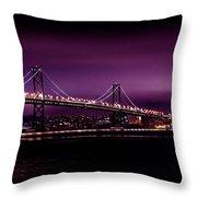 Bay Bridge Purple Haze Throw Pillow