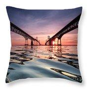 Bay Bridge Reflections Throw Pillow by Jennifer Casey