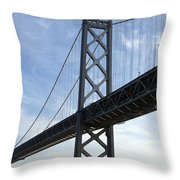 Bay Bridge San Francisco Throw Pillow