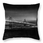 Bay Bridge Blackout Throw Pillow