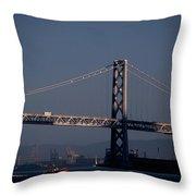 Bay Bridge West Span Throw Pillow