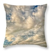 Bay Clouds Throw Pillow