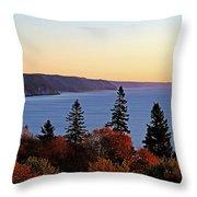 Bay Of Fundy Coastline - New Brunswick Canada Throw Pillow