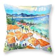 Bay Of Saint Martin Throw Pillow