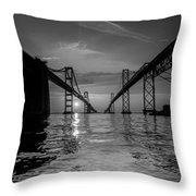Bay Bridge Strength Throw Pillow