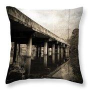 Bay View Bridge Throw Pillow by Scott Pellegrin