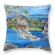 Bay View In Oregon Throw Pillow