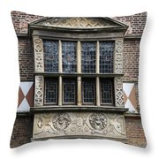 Bay Window - Castle Vischering Throw Pillow