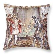 Bayard Presented To Henry Viii Throw Pillow