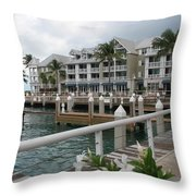 Bayfront Key West II Throw Pillow