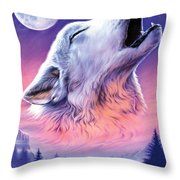 Baying To The Moon Throw Pillow