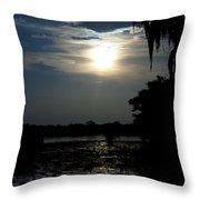 Bayou Blues Throw Pillow