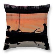 Bayou Patrol Throw Pillow